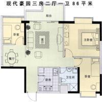 推推99深圳房产网豪方现代豪园户型图