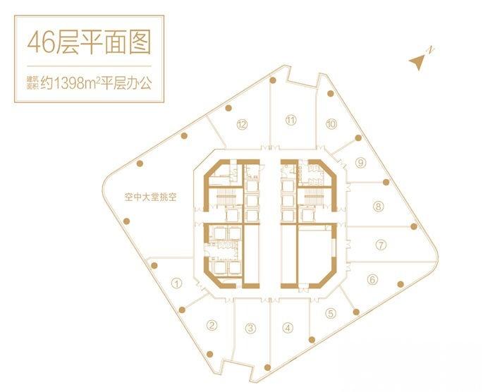 推推99房产网深圳前海中心写字楼在售房源图片
